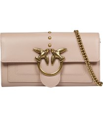 pinko chain love wallet
