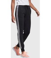 pantalón de buzo adidas performance essentials 3s single jersey pant negro - calce regular
