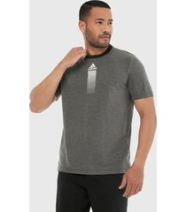 camiseta negro-gris adidas performance activated tech