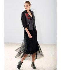 kjol av flera lager mesh amy vermont svart
