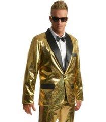 buyseasons men's disco ball tuxedo gold jacket