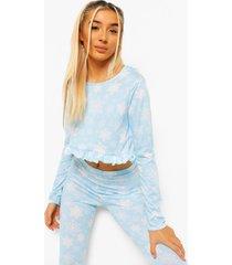 sneeuwvlokken pyjama set, baby blue