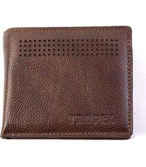 billetera marrón tropea frank