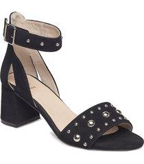 may studs sandal med klack svart shoe the bear
