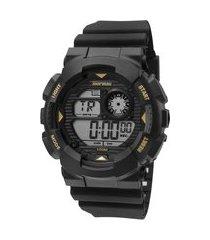 relógio digital mormaii masculino - mo3415a8p preto