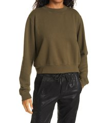 women's cotton citizen milan tie dye crop sweatshirt, size large - green