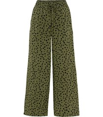 pantaloni culotte fantasia in viscosa sostenibile (verde) - bodyflirt