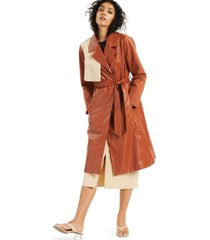 alfani petite belted trenchcoat, created for macy's