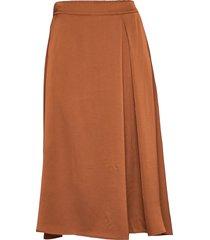 kathea midi skirt knälång kjol brun kaffe
