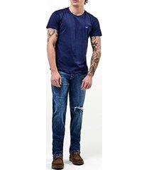 camiseta lee malha penteada 5103l manga curta - masculino