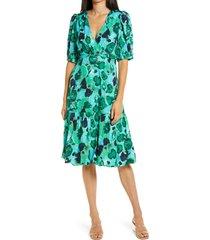 women's vero moda aleria a-line dress, size small - green