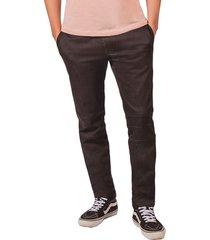 pantalon pmp tipo joger con cortes en rodilla negro