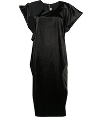 comme des garçons asymmetric loose-fit dress - black