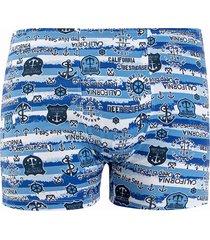 cueca boxer linha noite azul califórnia