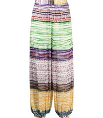 missoni mare embroidered beach trousers - green