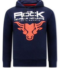sweater local fanatic hoodie print the rock
