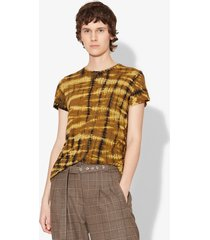 proenza schouler tie dye short sleeve t-shirt dark green/black/yellow xl