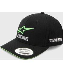 gorra negro-verde alpinestars velo vall