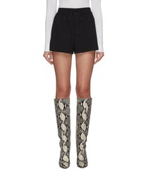 'carson' elastic drawstring waist godet shorts