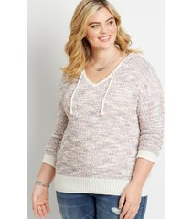 maurices plus size womens spacedye hooded pullover sweater