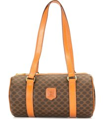 céline pre-owned pre-owned macadam barrel tote bag - brown