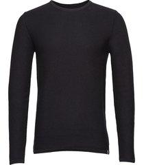 reiswood 2.0 gebreide trui met ronde kraag zwart minimum