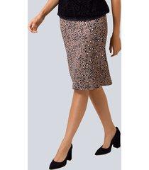 kjol alba moda brun::svart