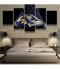 5 pcs baltimore ravens gloves canvas prints painting wall art picture home decor