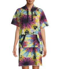 dkny women's sneaker cover-up dress - neon multicolor - size l/xl