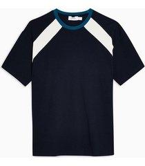 mens navy panel t-shirt
