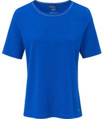 shirt met ronde hals en korte mouwen van basler blauw