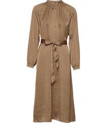 slfharmony ls short dress b jurk knielengte bruin selected femme