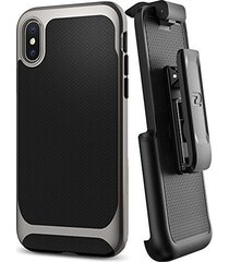 encased belt clip holster for spigen neo hybrid case - apple iphone x (case not