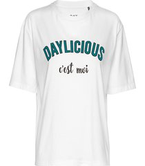 day c t-shirts & tops short-sleeved vit day birger et mikkelsen