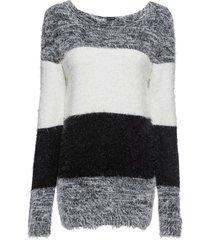 maglione a fasce in filato soffice (nero) - bodyflirt