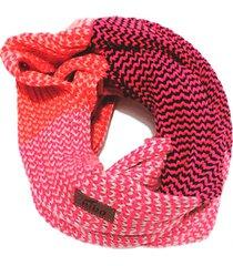bufanda de lana circular rosa morado niba