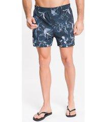 shorts dágua estampado floral - chumbo - g