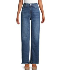 free people women's relaxed straight slouch jeans - yucca - size 26 (2-4)