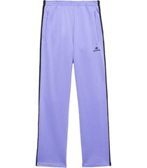 lilac and black track pants