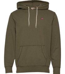 original hm pullover hoo olive hoodie trui groen levi´s men