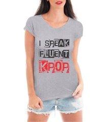 blusa criativa urbana speak kpop t shirt