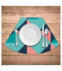 jogo americano para mesa redonda wevans abstract blue kit com 6 pçs