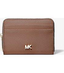 mk portafoglio piccolo in pelle martellata - dark fawn - michael kors