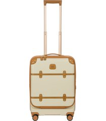 men's bric's bellagio 21-inch wheeled carry-on - white