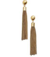 karine sultan tassel drop earrings in gold at nordstrom