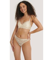 na-kd lingerie scalloped lace high waist panty - white