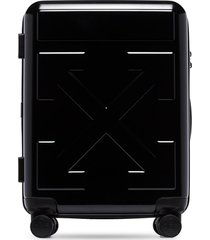 off-white arrow motif suitcase - black
