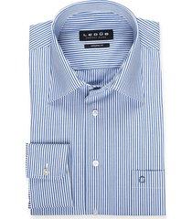 ledub mouwlengte 7 overhemd modern fit kobaltblauw