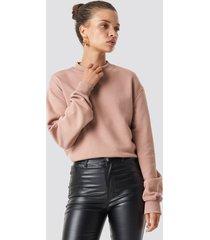na-kd basic basic sweater - pink