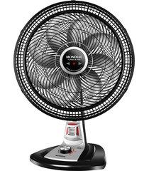 ventilador de mesa mondial vtx-40-8p-rp, 40cm, preto e prata - 220 volts